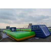 Buy cheap Giant Soap Water Football Field Inflatable Soccer Field for Sale from wholesalers