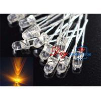 Water Clear LEDs Light Emitting Diode , Flashing LED Diode 2000 - 3000MCD Luminous