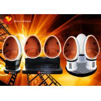 Interactive 3 Seats 360 Degree Egg 9D VR Cinema Simulator DC 220V 4.5KW
