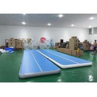 Floating Water Blue Inflatable Sports Games Air Track Tumbling Mat For Gymnastics