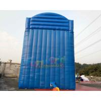 Quality 0.55mm PVC Outdoor Inflatable Water Slide Into Pool / Giant Slip N Slide for sale