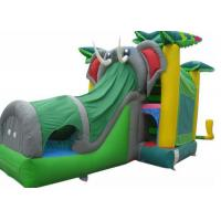 Wholesale Tropical Jungle Trees Elephant Inflatable Bounce House Combo With Shade Cover from china suppliers