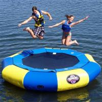 Wholesale Blue and yellow Large Inflatable Water Sports , Aquapark Platinum Rebound Bouncer from china suppliers