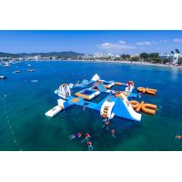 Quality Giant Adult Giant Blue inflatable sport park For Wake Island ,Water sports equipment For Ocean for sale