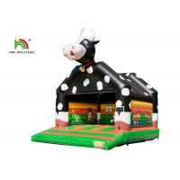 China Customized 6.6*5.0*5.7m Black Cows Inflatable Bouncy Castle With EN71 Digital Printing on sale
