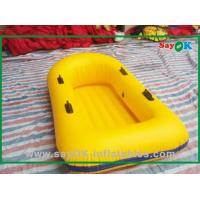 Wholesale Custom Yellow PVC Inflatable Boats Water Amusement Floating Boats For Kids from china suppliers