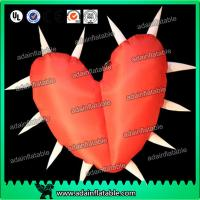 Wholesale Factory Lovely Big Red Inflatable Heart With Led Lights For Festival , Diameter 1.5M from china suppliers