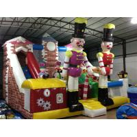 Customized Commercial Inflatable Water Slides / Blow Up Soldier Castle Guard Themed PVC Dry Slide