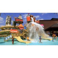 China Attractive Aqua Playground Equipment Galle Pirate Theme Water House For Family on sale