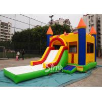 China Water Bouncy Castle With Slide And Pool / Basketball Hoop for Backyard on sale