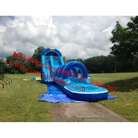 China Big inflatable water slide inflatable water slide for kids and adults 60x12x30ft on sale
