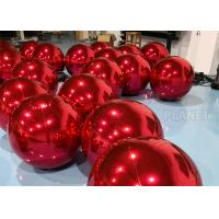 Wholesale Red PVC Inflatable Mirror Ball With D Rings For Shopping Mall High Tear Strength from china suppliers