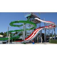 China Thrilling Transparent Adult Water Slides , Water Park Water Slide For Kids on sale