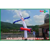 China Advertising 5m Blue White Inflatable Air Dancer , Inflatable Air Dancer Cook Sky on sale