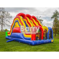 Wholesale 3 Lane Alternate Big Inflatable Obstacle Course With 0.55mm Pvc Material from china suppliers
