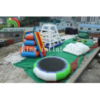 5m D Green / White Inflatable Trampoline PVC Inflatable Water Toy For Adults for sale