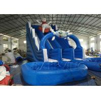 Wholesale Blue Lazy Bear Commercial Inflatable Slide With Pool , Giant Inflatable Water Slide from china suppliers