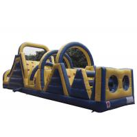 Wholesale Blue Adrenaline Rush Blow Up Obstacle Course , Obstacle Course Jumper For Sport from china suppliers