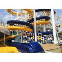 Wholesale Aqua Park Spiral Water Slide , Outdoor / Indoor Commercial Swimming Pool Slides from china suppliers