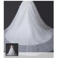 Quality Exquisite Slim tulle One Shoulder Wedding Gowns with Long Train , 3D Visual for sale