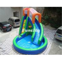 China Kids Inflatable Water Slide With Little Swimming Pool Playing Outdoors on sale