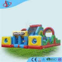 Wholesale 0.9 mm PVC Assault Course Hire , Inflatable Sports Games , Obstacle Course For Kids from china suppliers