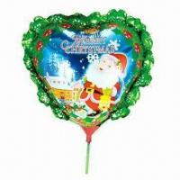 Wholesale 14-inch Heart Shaped Balloons with Bowknot and Cup Stick, Made of Nylon Aluminum and PE/Three Colors from china suppliers