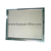 Wholesale Polypropylene Mini Pleat HEPA Air Filter Media / Cleanroom Air Filter from china suppliers