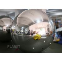 Shopping Mall Inflatable PVC Mirror Ball Ornaments 1m  Or Customized Size