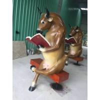 Wholesale Cattle  Fiberglass Animal Sculptures Large Yard Ornaments Restaurant Decoration from china suppliers