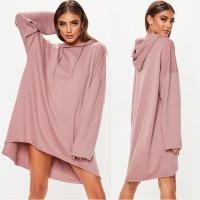Wholesale Custom Rose Oversized Hoodie Printing Sweater Dress from china suppliers
