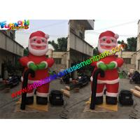 Wholesale 10 Feet Oxford Inflatable Santa Claus , Inflatable Father Christmas Balloons from china suppliers
