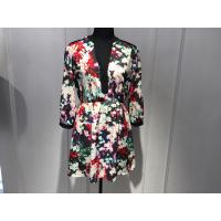 Wholesale Sexy Womens Floral Blouse , Floral Summer Dresses Deep V Neck BGW008 from china suppliers
