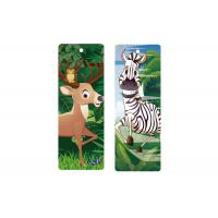 Wholesale 3d Animal Bookmark With Tassel Lenticular Flip 0.6mm PET For Books 5.6 x 15.3cm from china suppliers