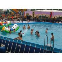 Commercial Large Rectangular Metal Frame Pool , Mobile Swimming Pool For Park