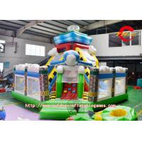 China Children Aircraft Fabric Inflatable Bounce House Castle With Double Slide on sale
