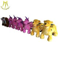 China Hansel wholesale electric toys on wheels plush animal electric scooter on sale