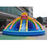 China 21x21' kids banzai large inflatable water pool slide made of lead free pvc tarpaulin with EN14960 certified on sale