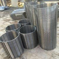 China 304 Stainless Steel Wedge Wire Sieve Filter Mesh Customized Filter Rating on sale