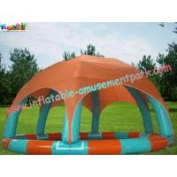 China Outdoor PVC tarpaulin Inflatable Water Blow up Pool with tent for Paddle / Bumper Boat on sale