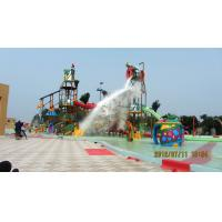 Wholesale Outdoor Water Park Project , Steel Water Aquatic Play Structures Slide Tower for Children from china suppliers
