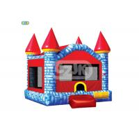 Colorful Brick Style Bouncy Jumping Castles Heavy Duty Commercial Grade