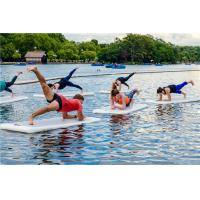 Wholesale Fitness Inflatable Aqua Floating Mat With Hand Pump / Backpack / Repair Kit from china suppliers