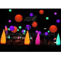 Wholesale LED Wick Inflatable Cone , Outdoor Decoration Water Drop Shape Inflatable Balloon from china suppliers