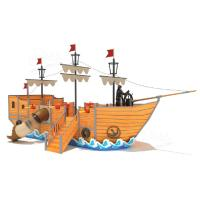 Wholesale Commercial Outdoor Pirate World Playground For Sale , Wooden Outdoor Pirate Ship Equipment from china suppliers