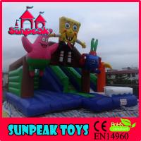 Wholesale COM-177 Cartoon SpongeBob Jumping Inflatable Slide from china suppliers