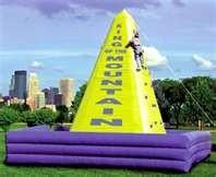 Wholesale Commercial  Outdoor Chrildren Inflatable Climbing Wall with UL blower for rental business from china suppliers