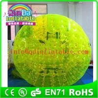 Wholesale QinDa Inflatable Aqua Zorb Ball for sale human bubble ball Grass Zorbing Ball from china suppliers