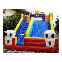 Kids Exciting Football Inflatable Outdoor Water Slide With Dual Sewing
