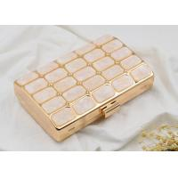 Wholesale Rose Acrylic Stone Shell Evening Clutch Box HandBag Shining Customized Logo from china suppliers